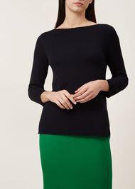 Cassey Sweater, Navy, hi-res