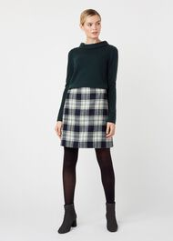 Elea Wool Skirt, Ivory Green, hi-res
