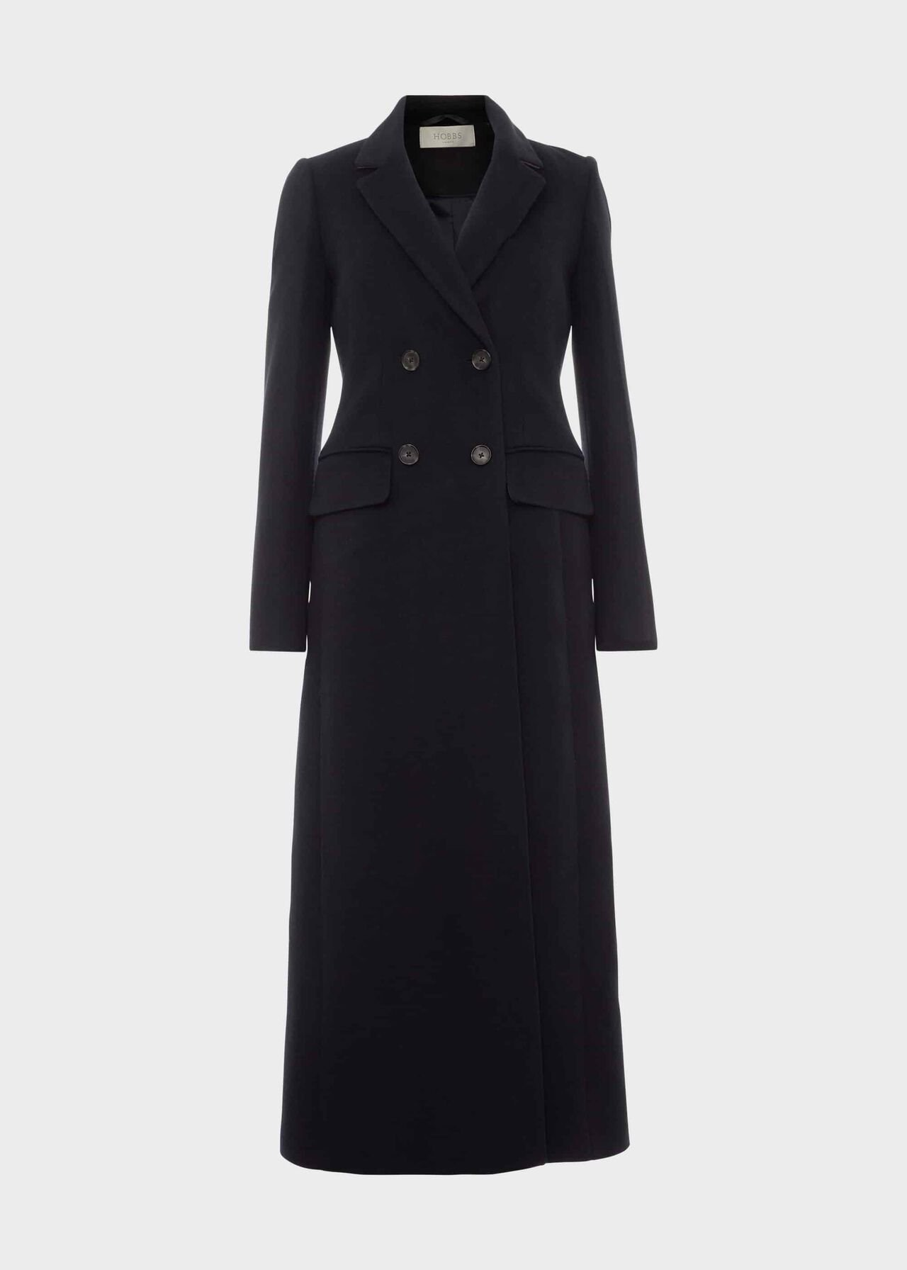 Lilie Wool Cashmere Collar Coat Navy