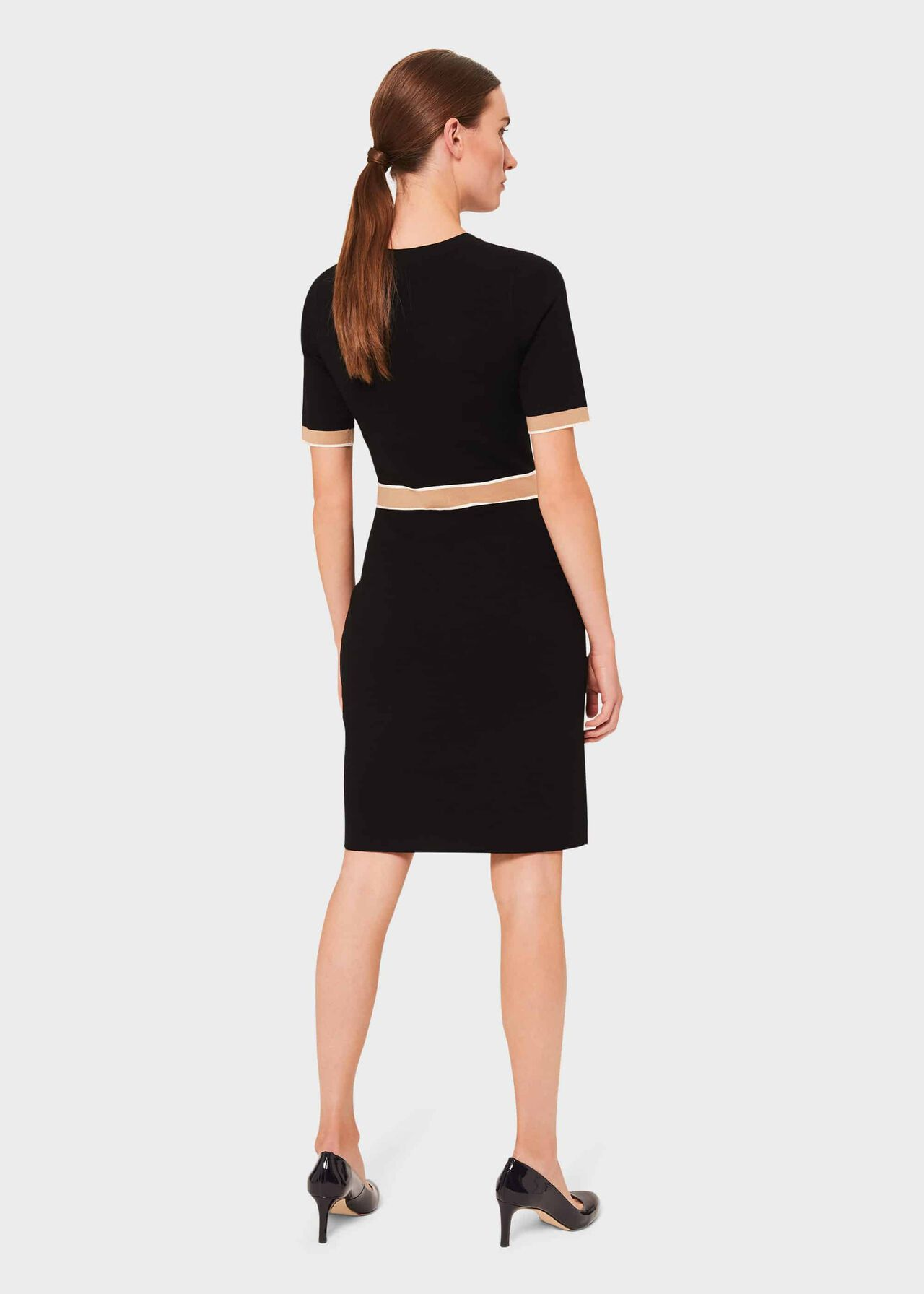 Aria Knitted Dress, Black Multi, hi-res