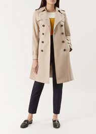 Saskia Trench Coat, Clay, hi-res
