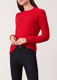 Zoe Sweater, Red, hi-res