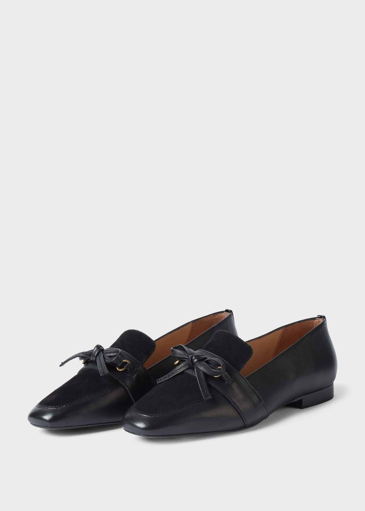 Lauren Leather Flat Shoes Black
