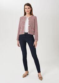 Tafara Tweed Jacket, Red Multi, hi-res