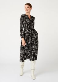 Ginnie Dress, Black White, hi-res