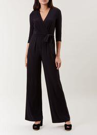 Sleeved Jordanna Jumpsuit, Black, hi-res
