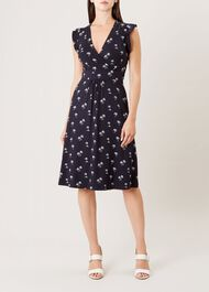 Penelope Dress, Navy White, hi-res