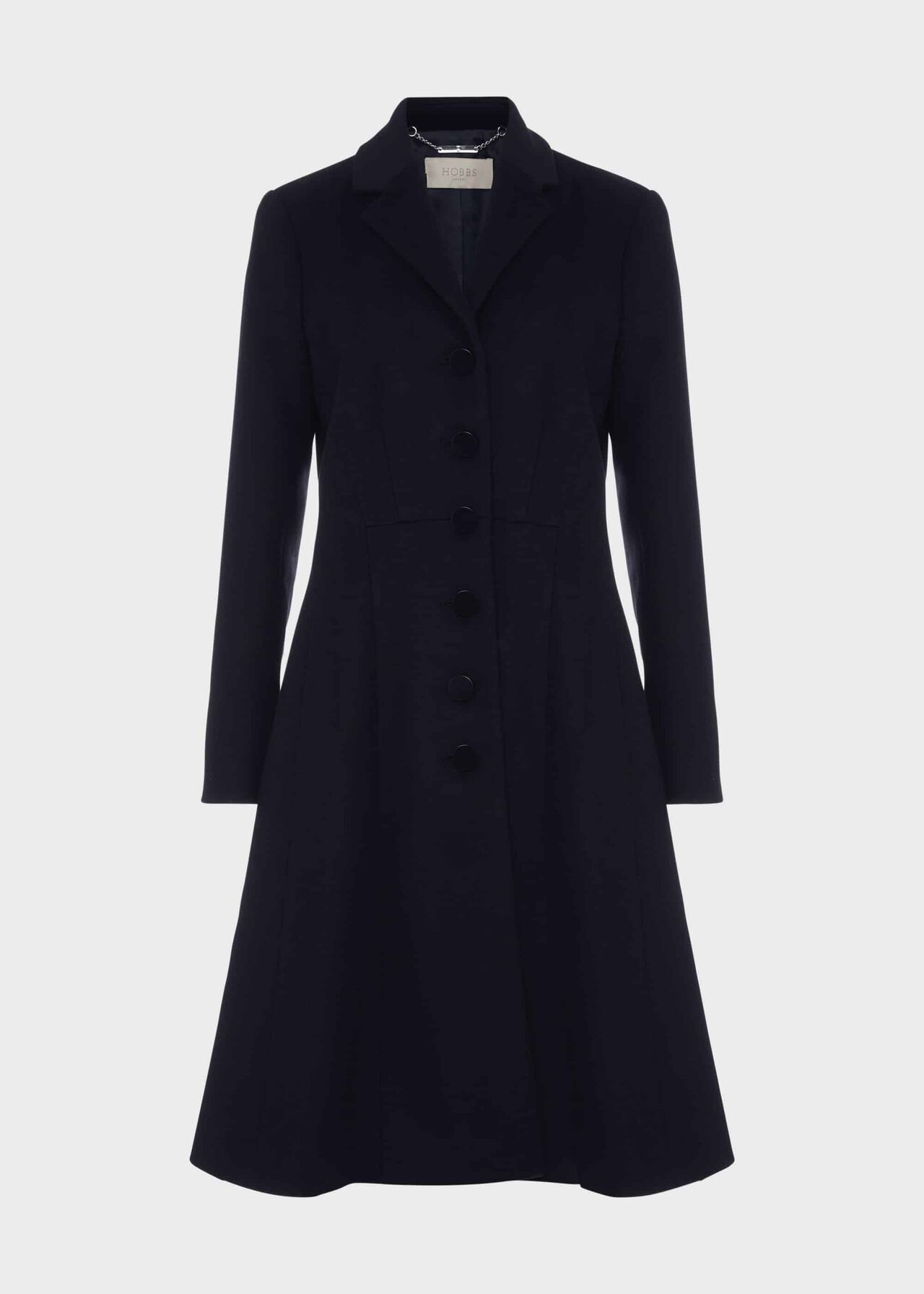 Milly Wool Blend Coat Navy