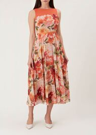 Carly Dress, Orange Multi, hi-res