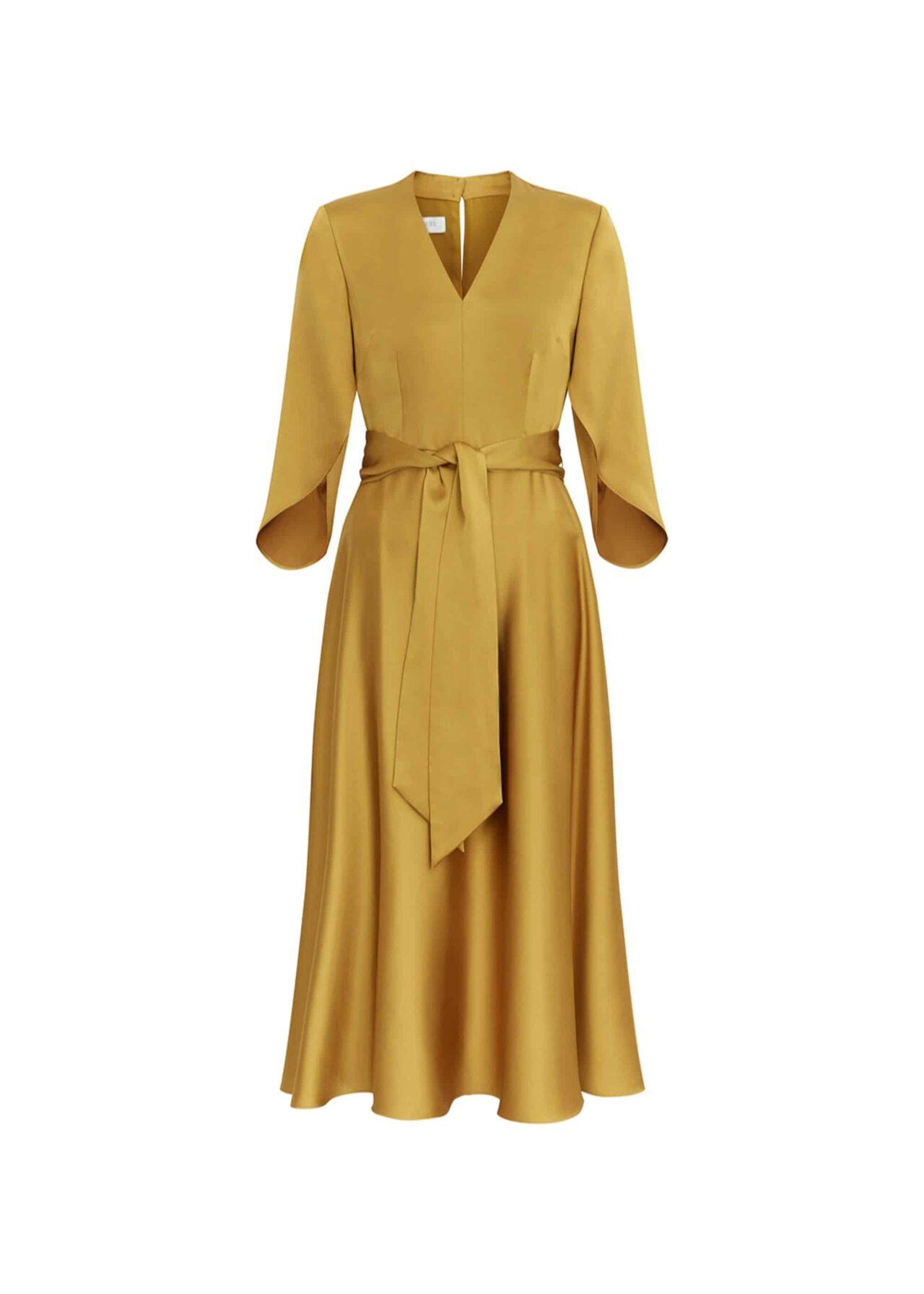 Rosa Midi Dress Ochre