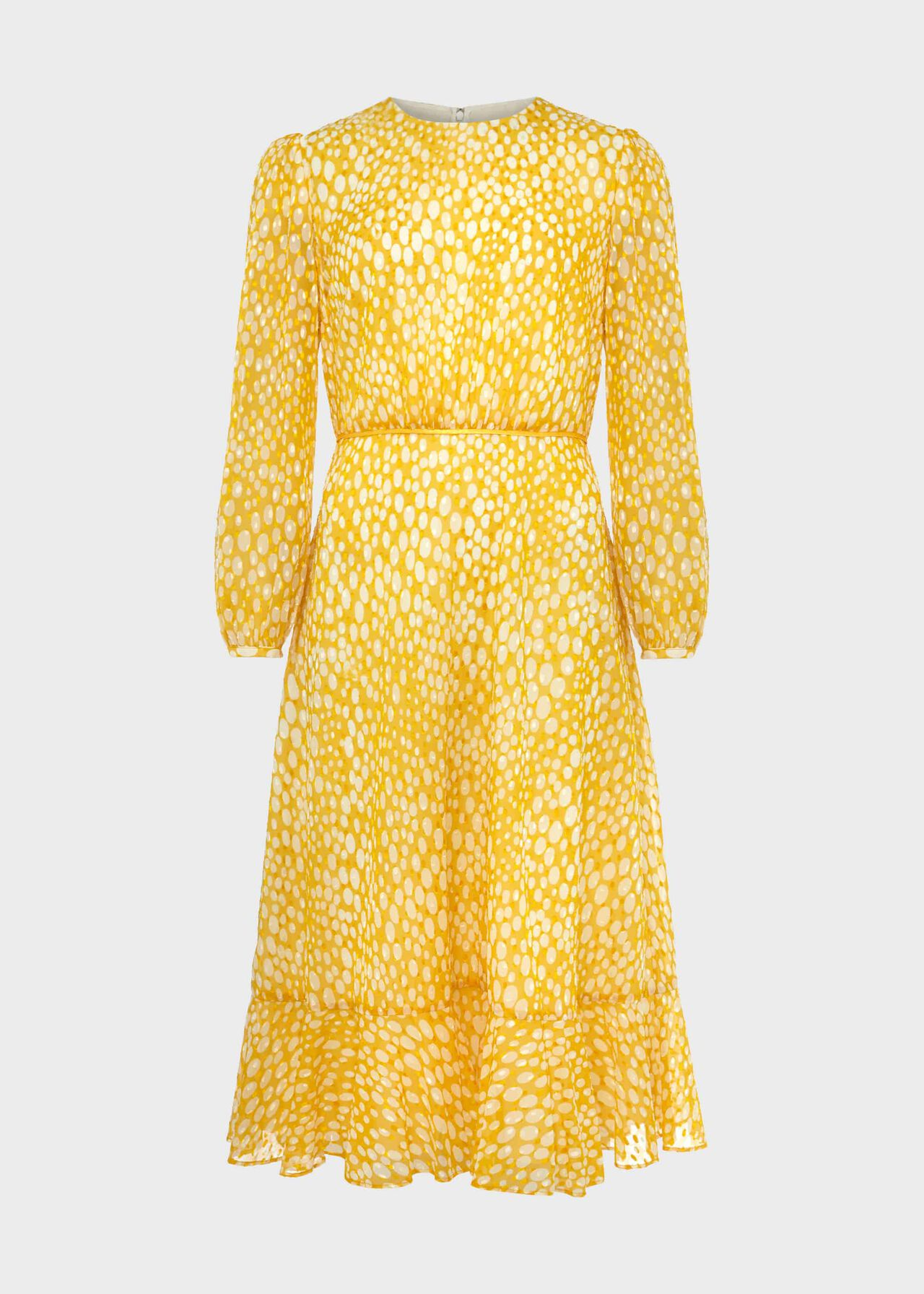 Lexi Jacquard Dress Yellow Ivory