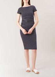 Bridget Dress, Navy White, hi-res