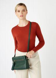 Helmsley Satchel Bag, Green, hi-res