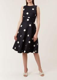 Twitchill Linen Dress, Navy Ivory, hi-res