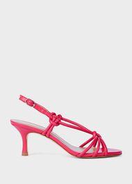 Billie Leather Kitten Heel Sandals, Pink, hi-res