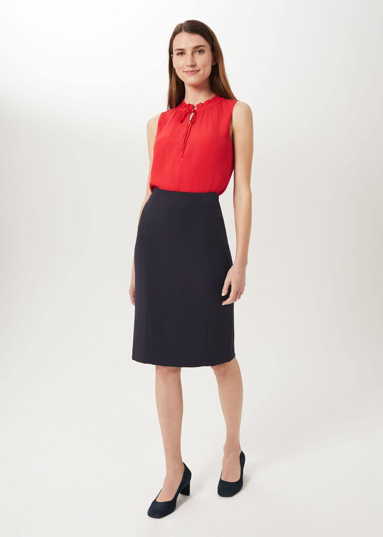 Leila Pencil Skirt, Navy, hi-res