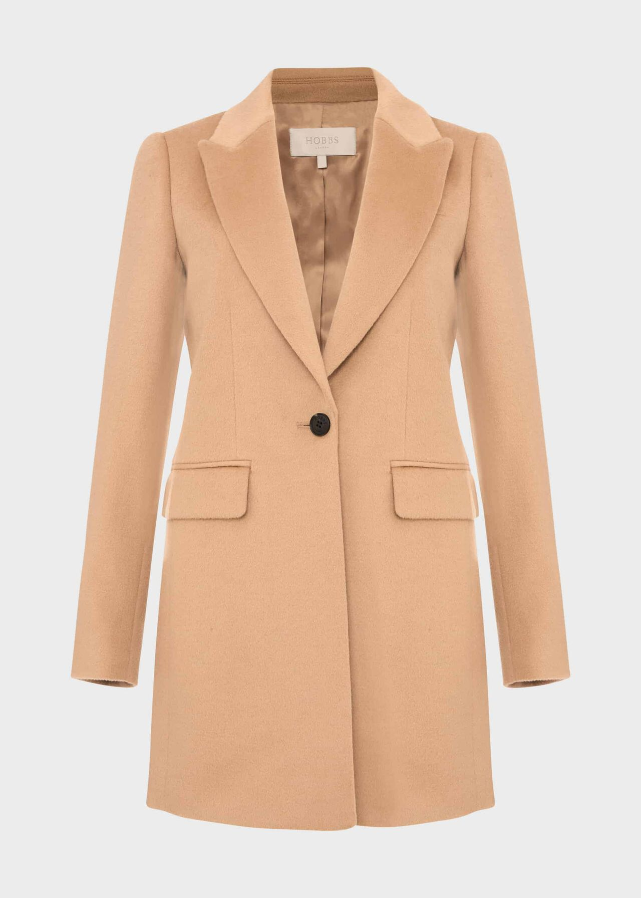 Lexi Wool Blend Collar Coat Camel