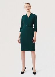 Dianna Dress, Dark Green, hi-res