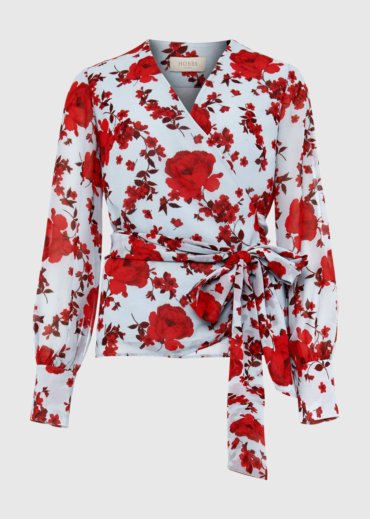 Elizabeth Floral Blouse Blue Red