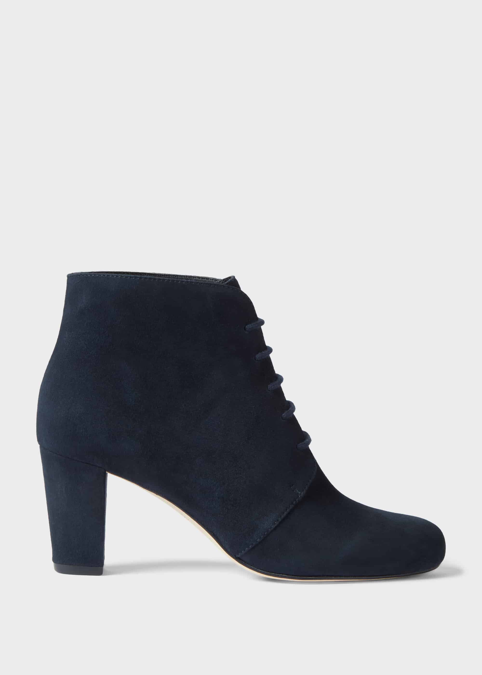 Patricia Suede Block Heel Ankle Boots