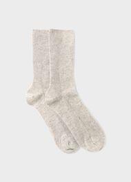 Mabel Cashmere Sock, Grey Marl, hi-res