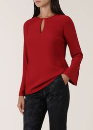 Primrose Blouse, Red, hi-res