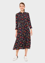 Annette Floral Midi Dress, Midnight Multi, hi-res