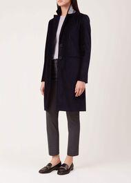 Velvet Tilda Coat, Navy, hi-res