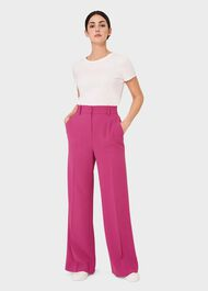 Natasha Wide Leg trousers, Pink, hi-res