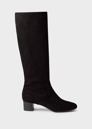 Sadie Knee Boot, Black, hi-res