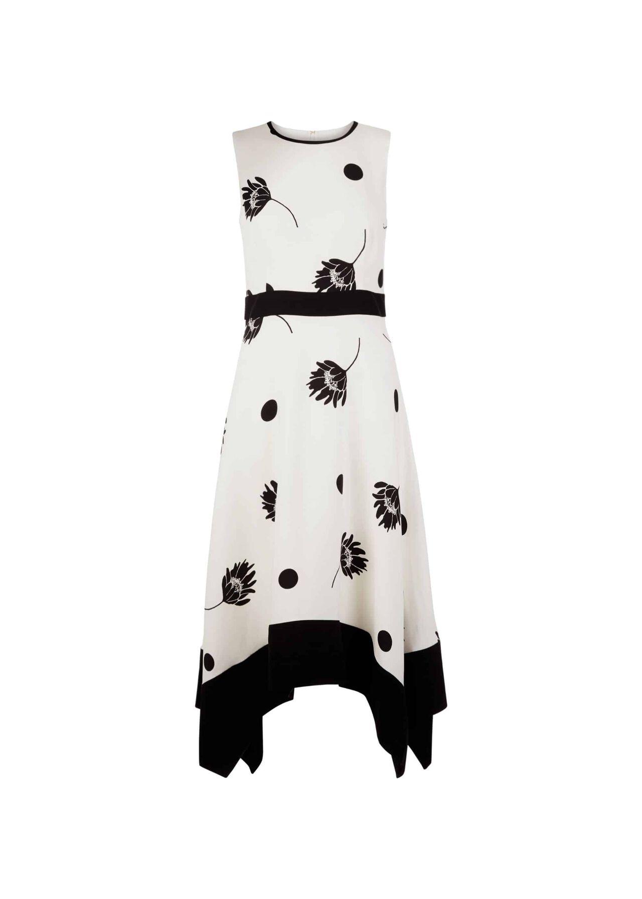 Lucie Dress Ivory Black