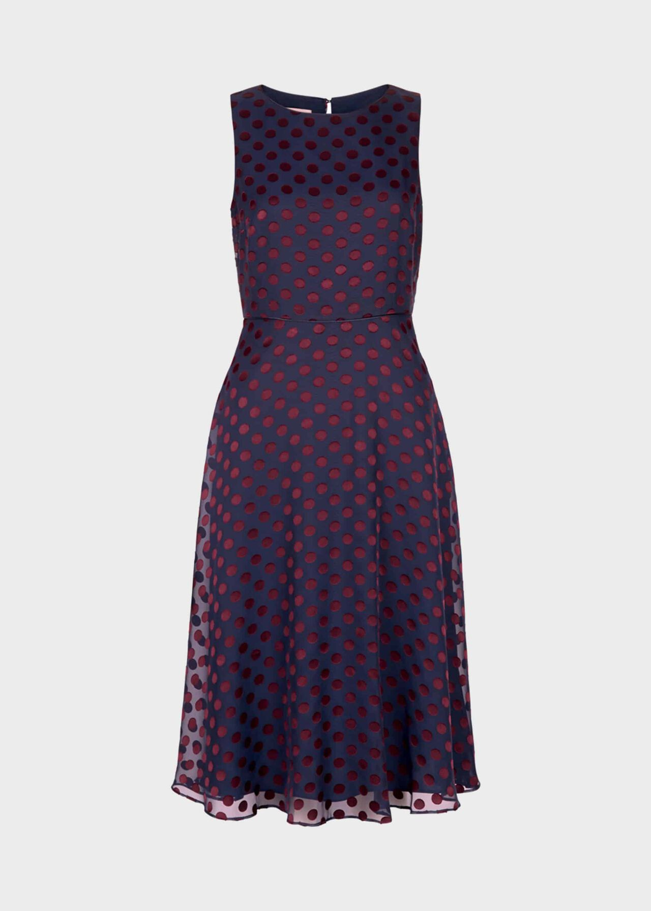 Adeline Dress Navy Burgundy