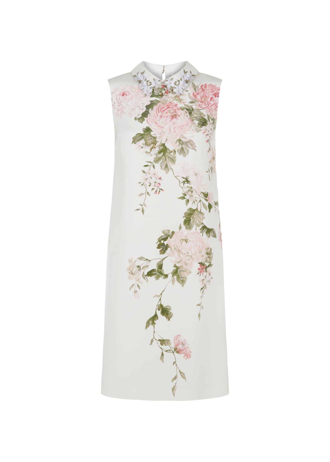 Libby Silk Dress Ivory Multi