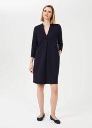 Agnes Jersey Dress, Navy, hi-res