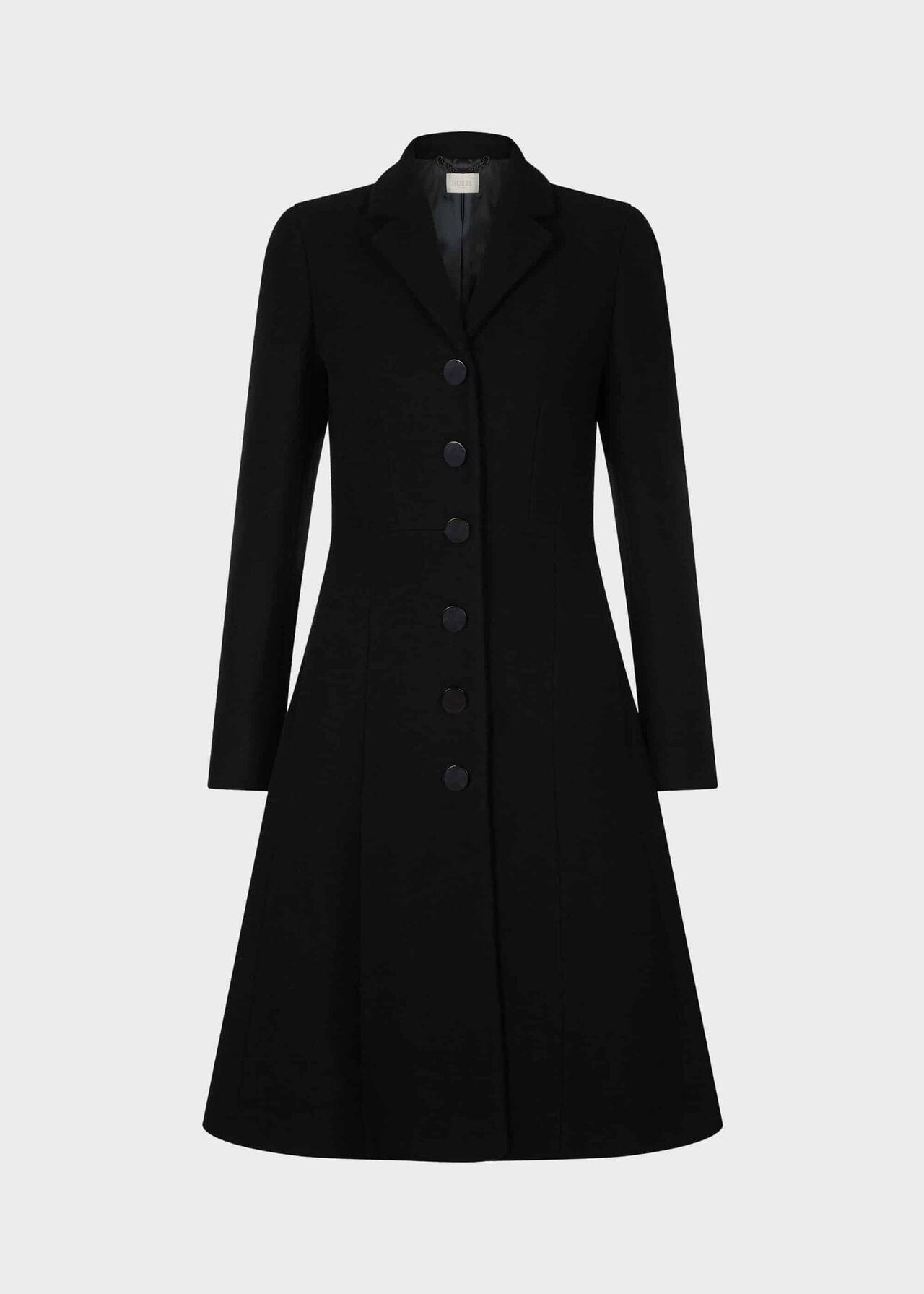 Milly Wool Blend Coat Black