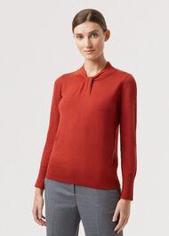 Kelsey Sweater, Rust Orange, hi-res