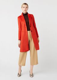 Tilda Wool Coat, Burnt Orange, hi-res