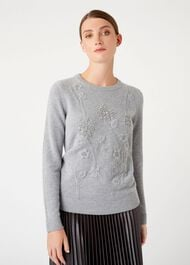 Camille Merino Wool Blend Sweater, Grey, hi-res