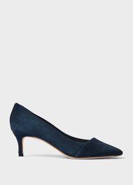 Clara Suede Stiletto Court Shoes, Navy, hi-res