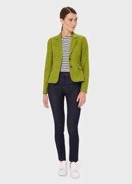 Petite Hackness Wool Jacket, Lime Green, hi-res