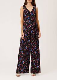 Laura Jumpsuit, Navy Multi, hi-res