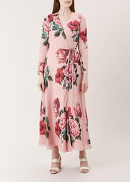Emery Silk Dress, Pink, hi-res