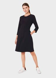 Cadence A Line Jersey Dress, Navy, hi-res