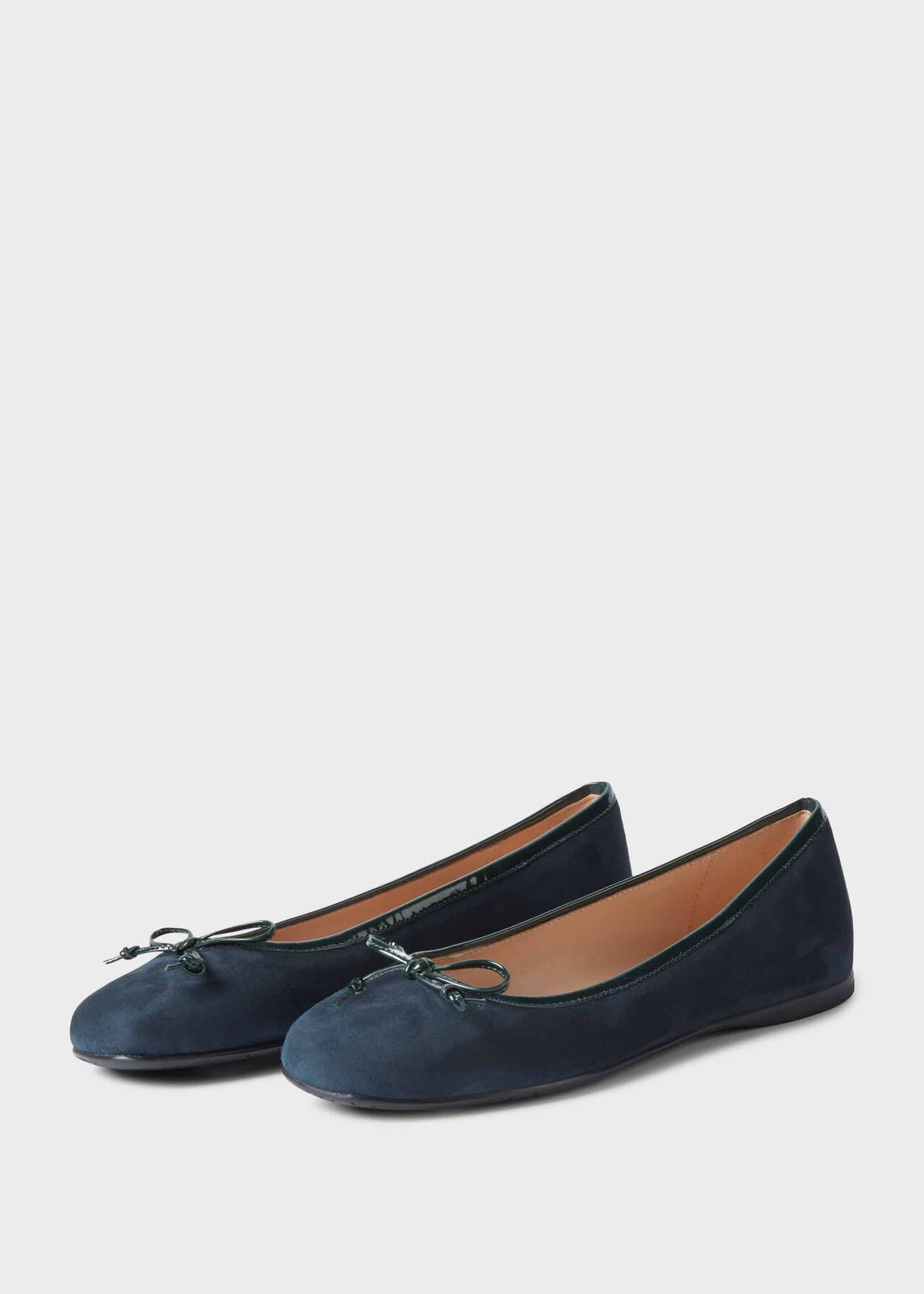 Prior Suede Ballerinas Navy