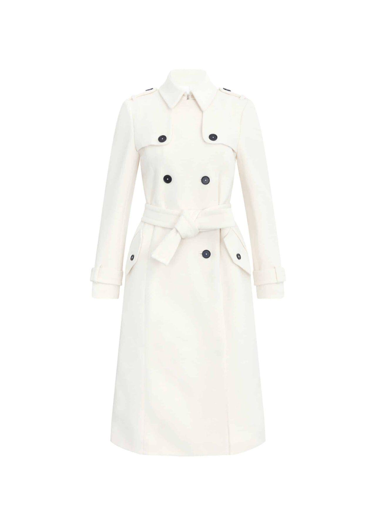 Blythe Wool Cashmere Coat Ivory