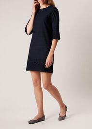 Adelaide Dress, Navy, hi-res