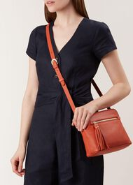 Helmsley Satchel Bag, Orange, hi-res