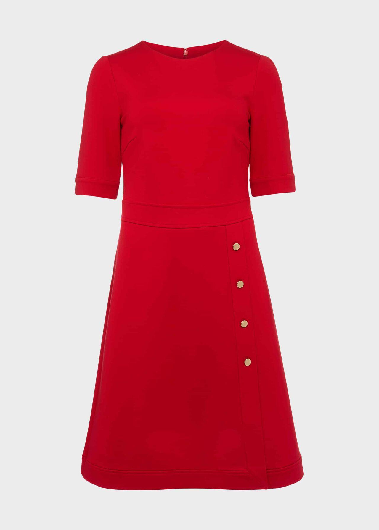 Petite Anela Jersey Dress Flag Red