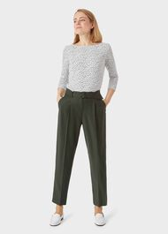 Rebecca Ruched Top, Ivory Navy, hi-res