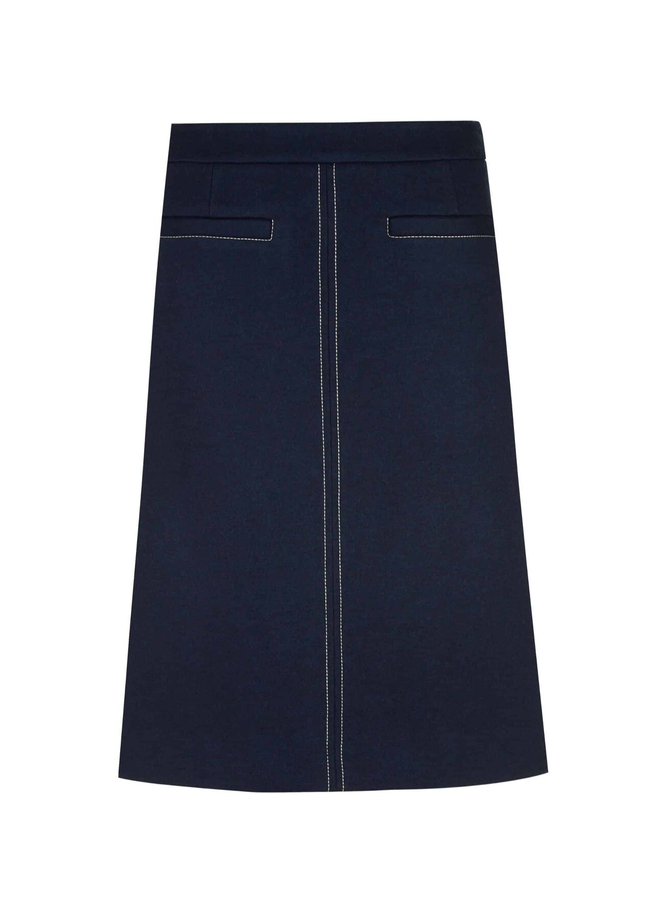 Joella A Line Skirt Marine Blue